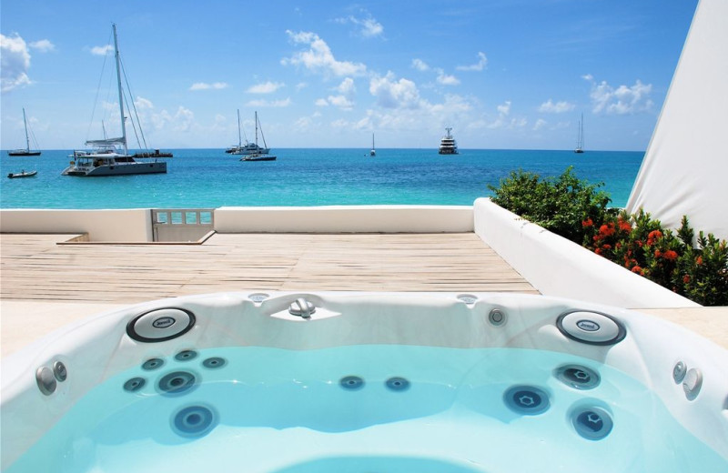 Villa hot tub at Island Properties Luxury Rentals.