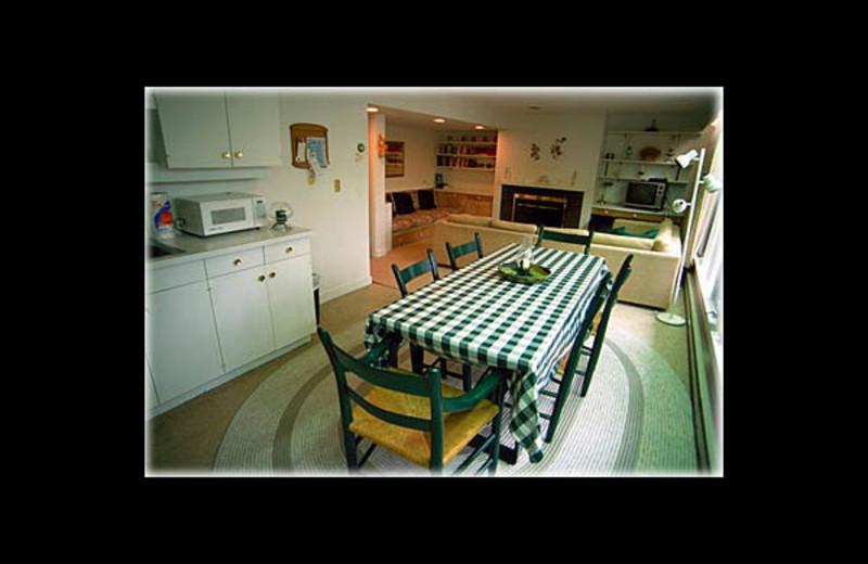 Vacation rental dining room at Village Condominium.