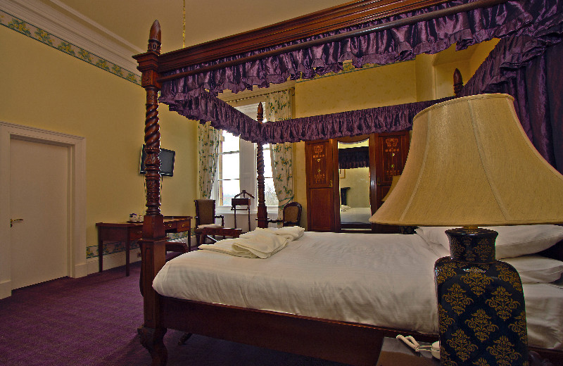 Guest room at Mansfield House Hotel.