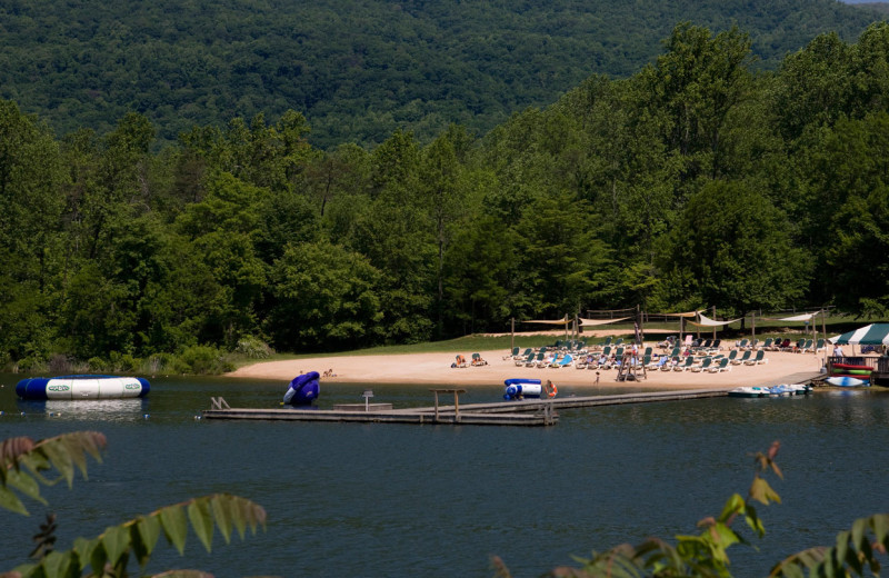Beach near Wintergreen Resort.