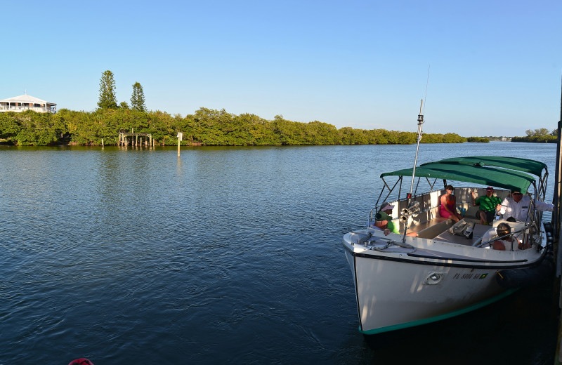Boat ride at Palm Island Resort.