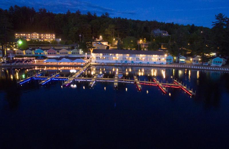 Night view of Naswa Resort.