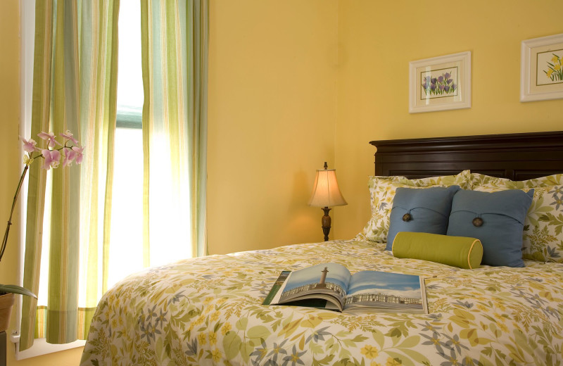 Guest room at Croff House Bed & Breakfast.