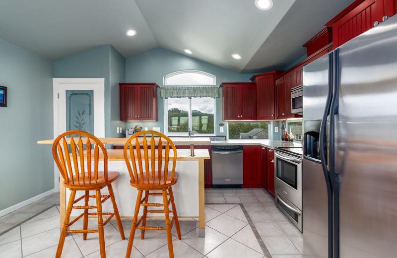 Rental kitchen at Kiwanda Coastal Properties.