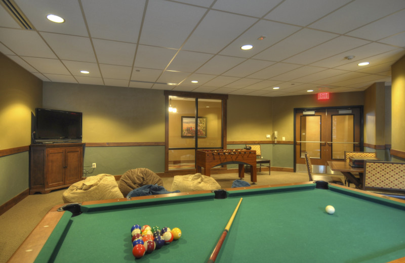 Game room at Trailhead Lodge.