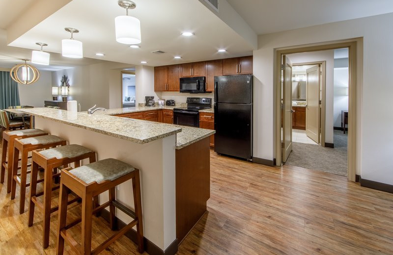Guest kitchen at Holiday Inn Club Vacations Scottsdale Resort.