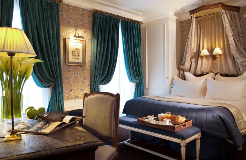 Guest room at Hotel de Buci.