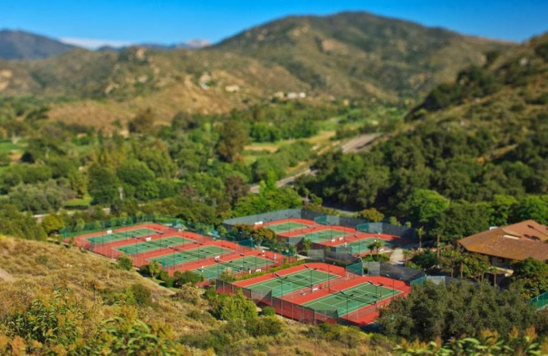 Tennis courts at Sycuan Resort.