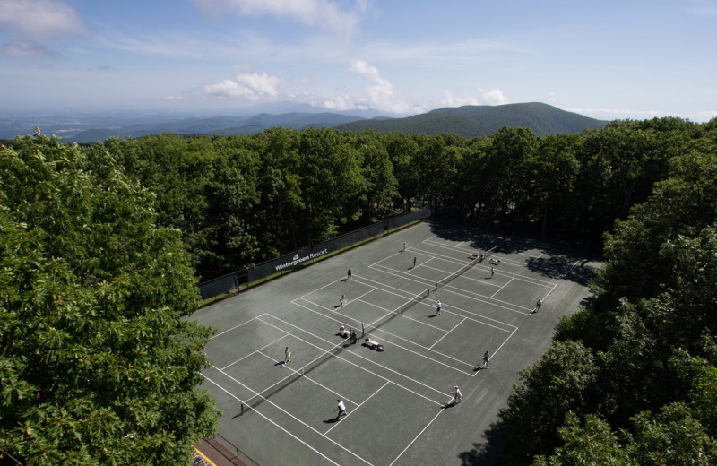 Tennis court at Wintergreen Resort.