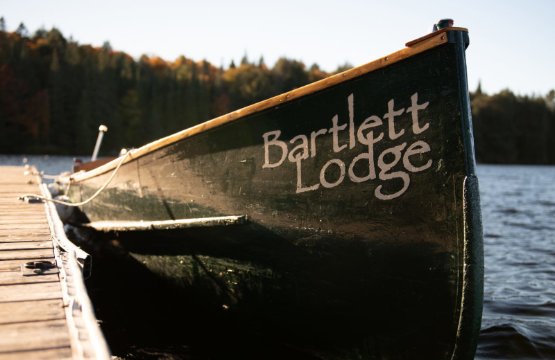 Boat at Bartlett Lodge.