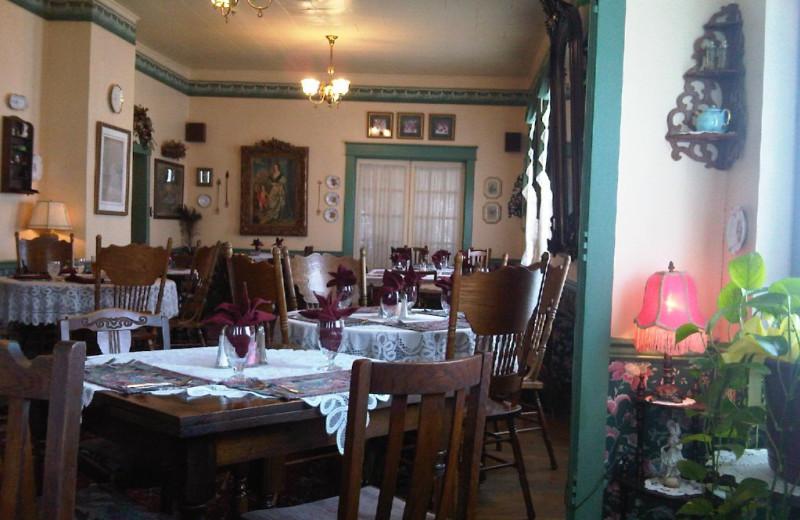 Dining room at Hotel Strasburg.