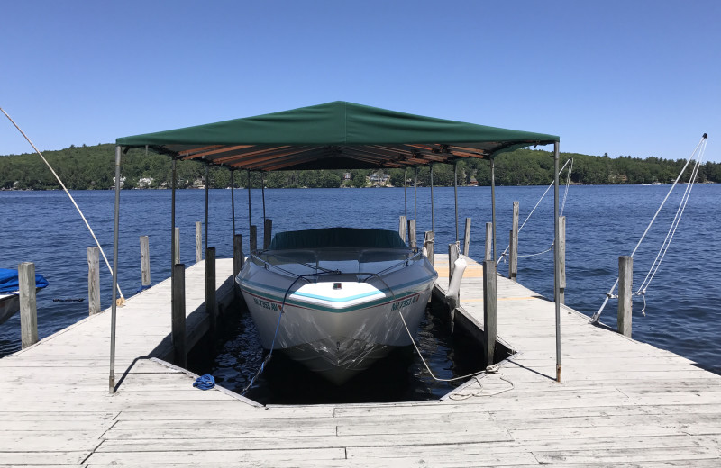 Rental dock at At The Lake Vacation Rentals.