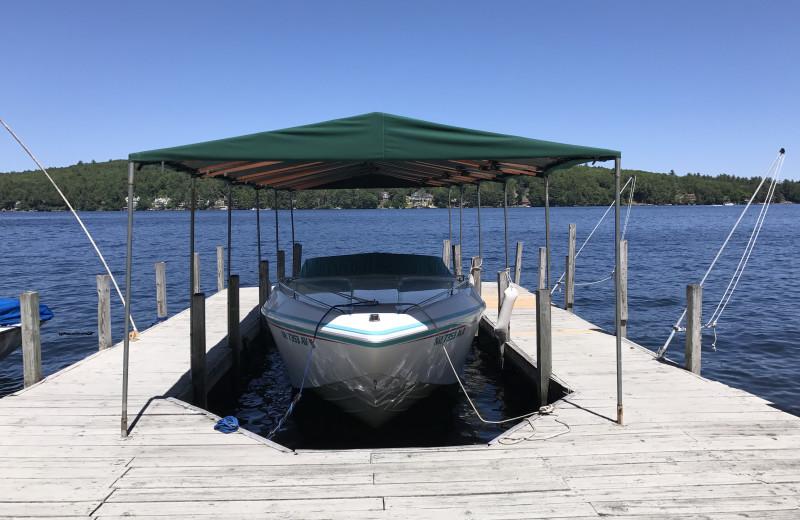 Rental dock at At The Lake Vacation Rentals.