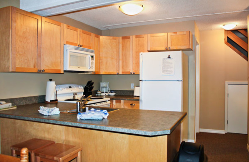 Kitchen of a Two Bedroom Unit at the Panorama Vacation Retreat at Horsethief Lodge