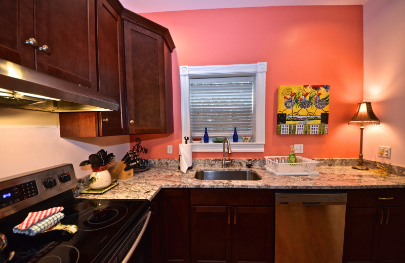 Rental kitchen at Key West Vacation Rentals.