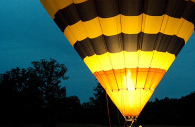 Hot air balloon at Keswick Hall.