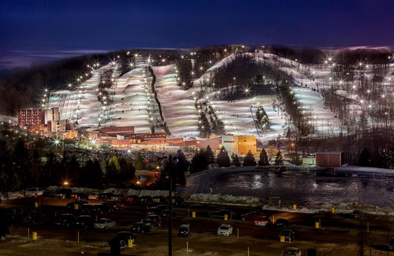 Ski mountain at Bear Creek Mountain Resort.