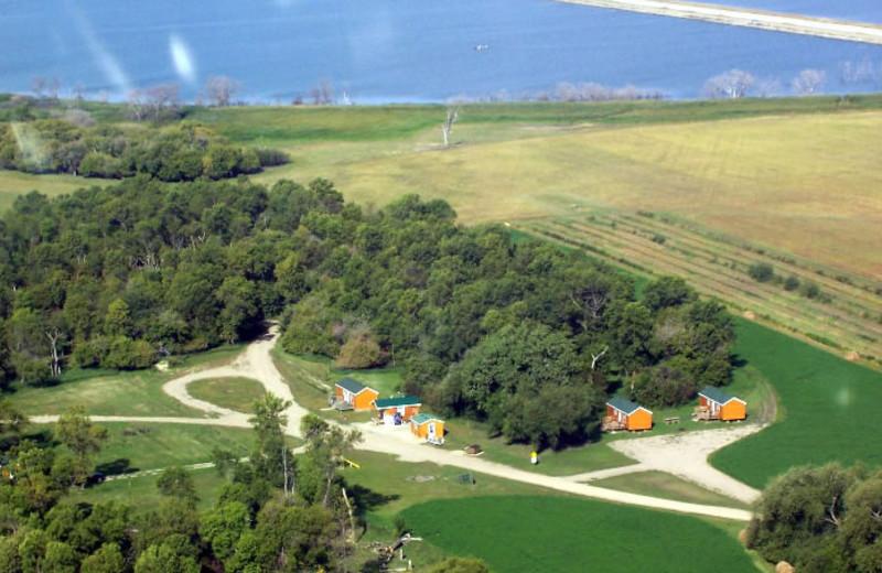 Aerial view of West Bay Resort.