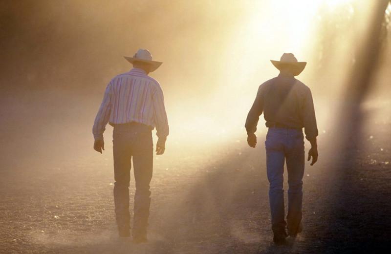 Cowboys at Circle Z Ranch.