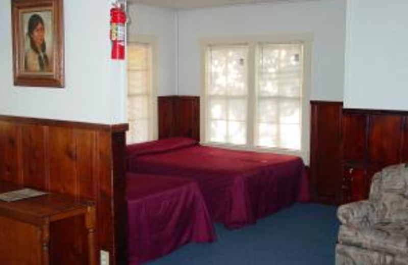 Guest bedroom at Poppy's Pointe Resort.
