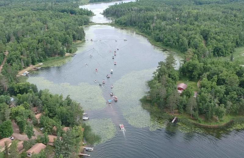 Aerial view of Little Norway Resort.