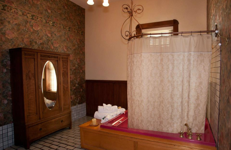 Guest bathroom at Palace Hotel and Bath House Spa.