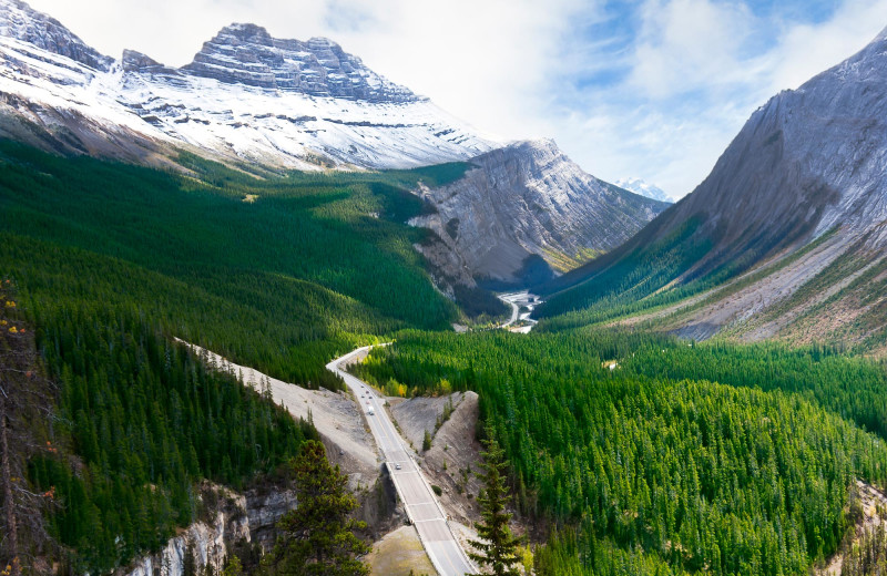 Scenic view at Mount Robson Inn.