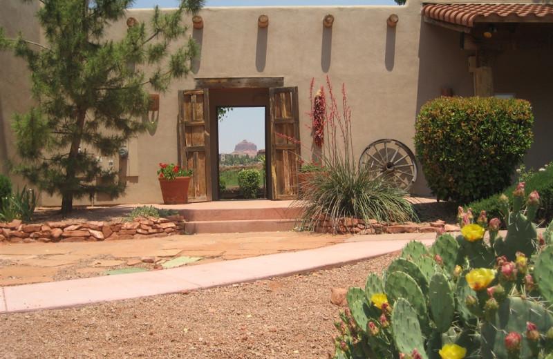 Exterior view of Adobe Hacienda Bed & Breakfast.