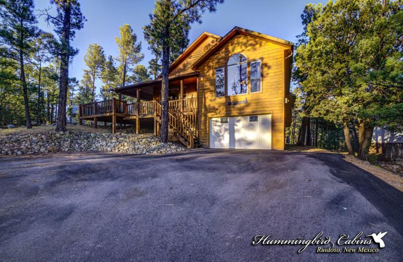 Rental exterior at Hummingbird Cabins.