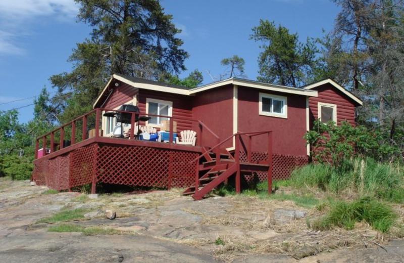 Cabin Exterior at Camp Wanikewin Lodge