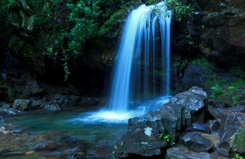 Waterfall near Old Creek Lodge.