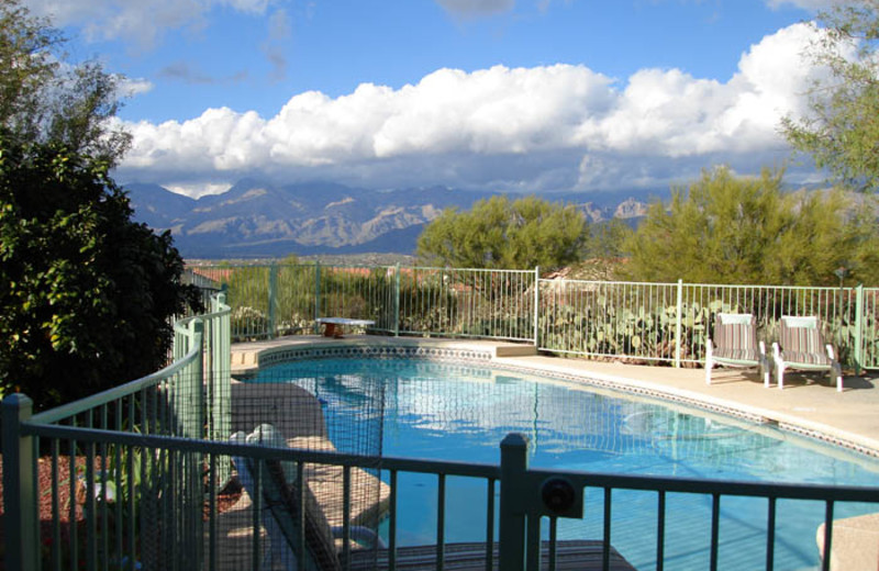 Outdoor pool at A Hagenah Bed & Breakfast.