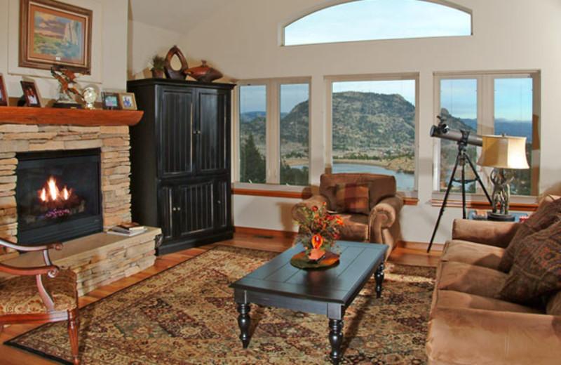 Vacation rental living room at Marys Lake Vacation Condos.