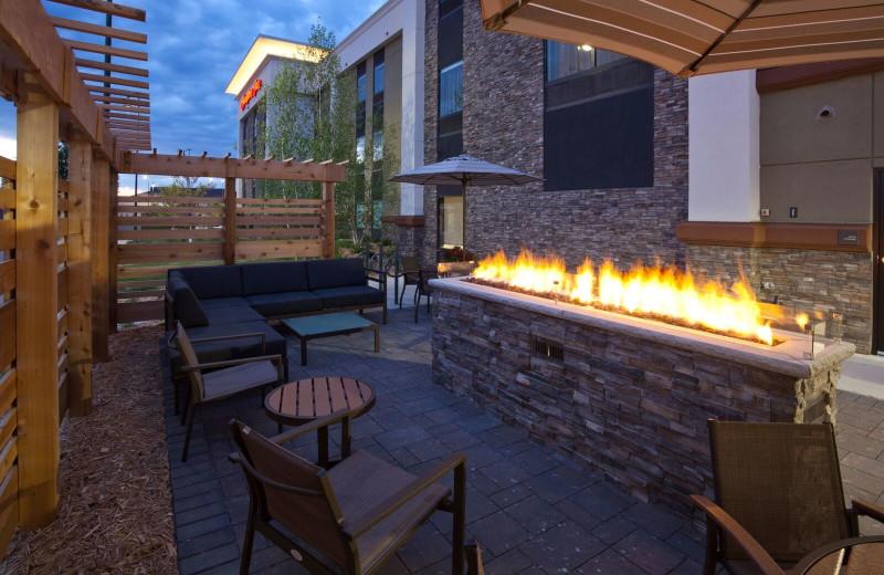 Patio at Spicer Green Lake Resort.