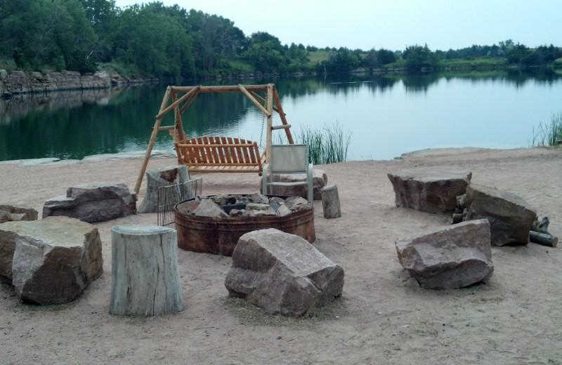 lake view at Granite Springs Lodge.