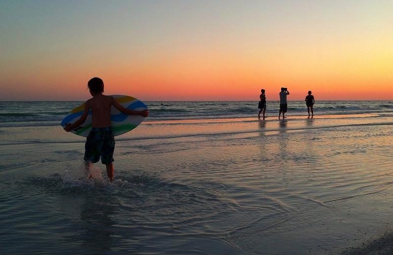 Surfing at Sunrise Ridge Waterfront Resort.