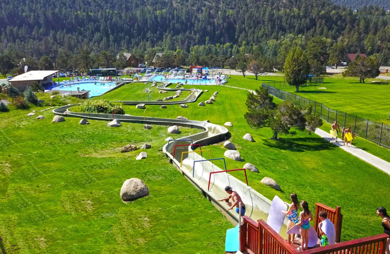 Water slide at Mt. Princeton Hot Springs Resort.