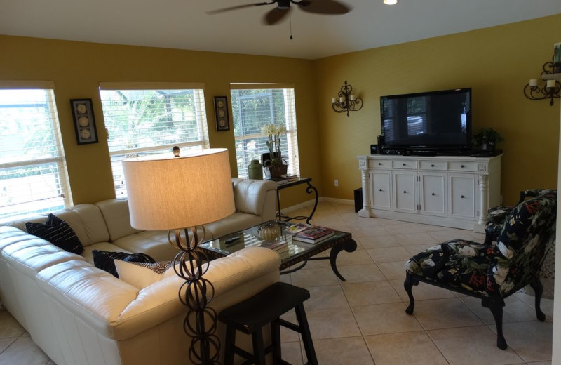 Rental living room at Realty Group Southwest Florida.