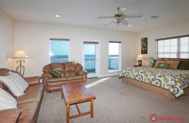 Rental bedroom at Reed Real Estate Vacation Rentals.