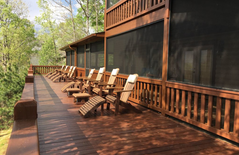 Rental deck at Nevaeh Cabin Rentals.