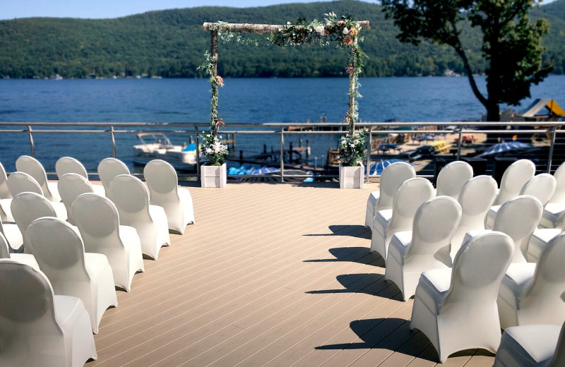 Weddings at  Surfside on the Lake Hotel & Suites.
