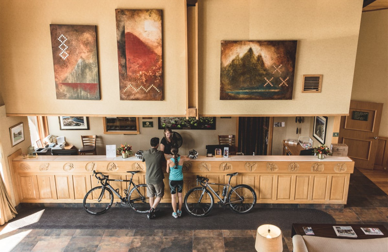 Lobby at Golden Arrow Lakeside Resort.