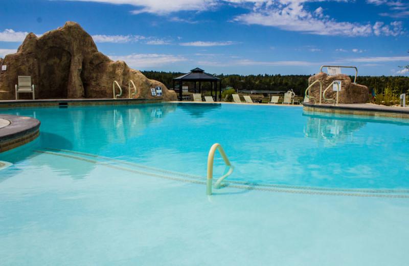Outdoor pool at Zion Ponderosa Ranch.
