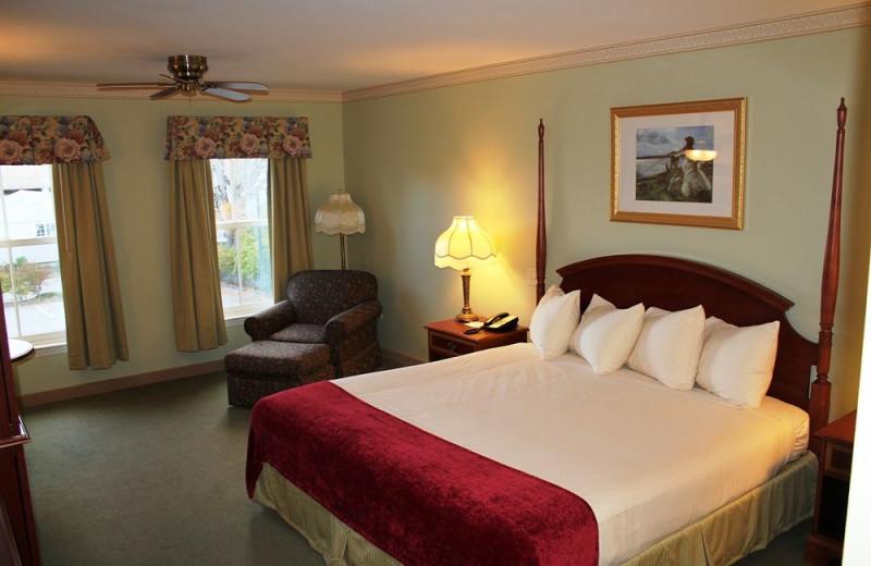 Guest room at Bar Harbor Grand Hotel.