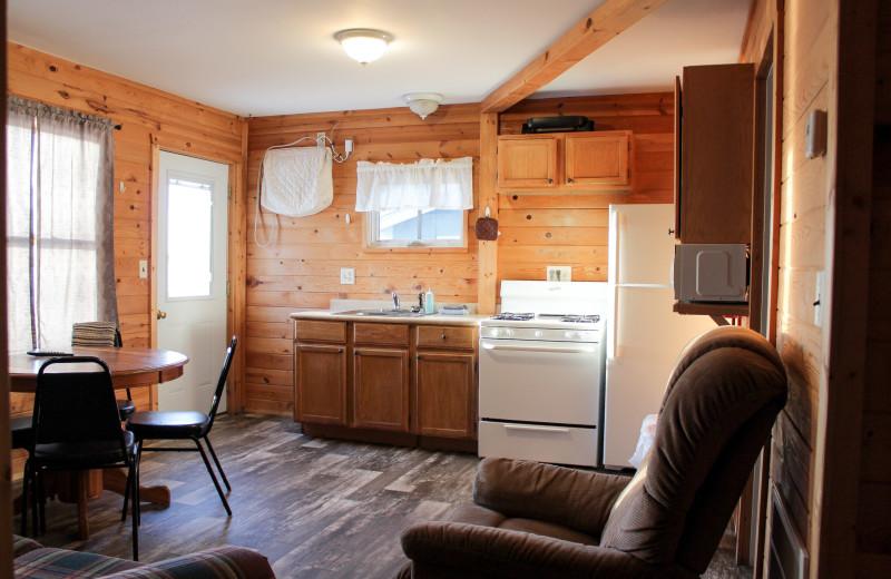 Guest cabin at River Bend's Resort & Walleye Inn.