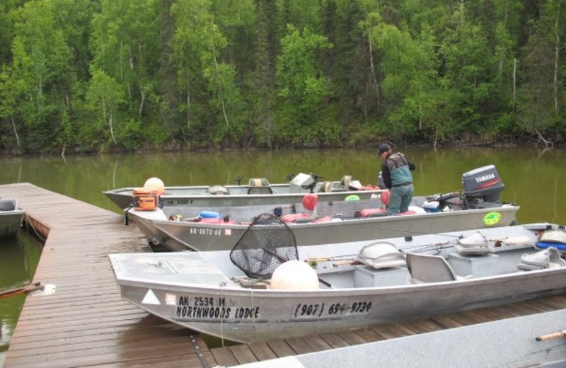 Fishing boats at Northwoods Lodge.