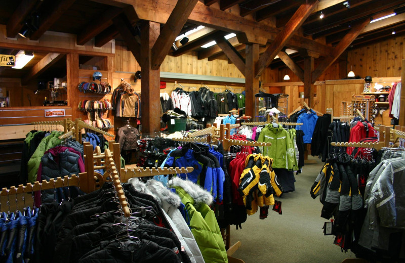 Ski shop at Sugar Bowl Resort.