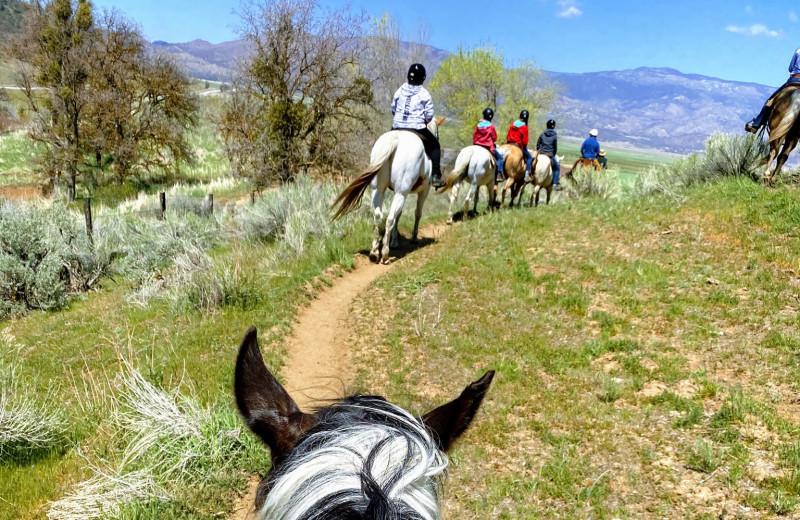Trail riding at Rankin Ranch.