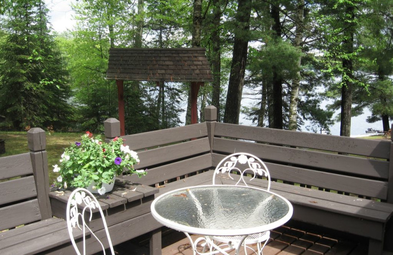 Rental deck at Northwoods Vacation Lodgings.