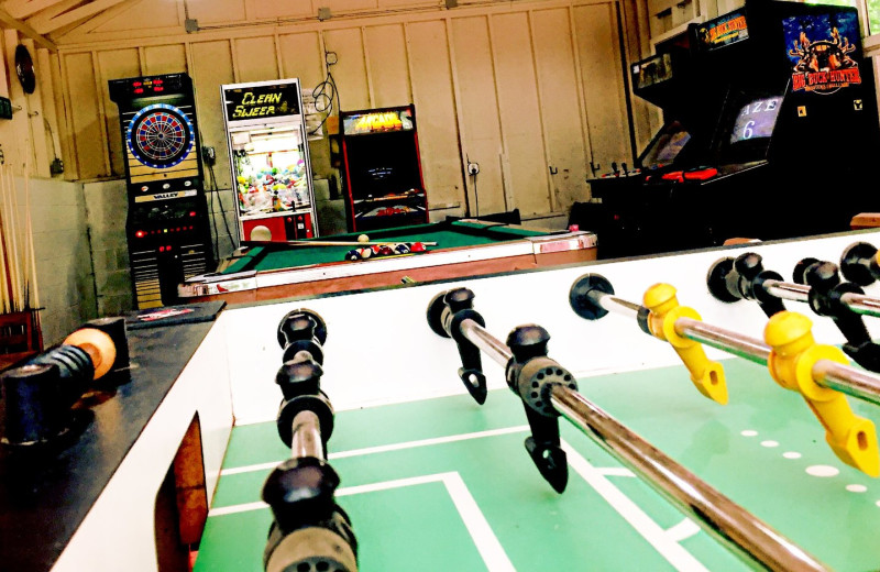 Game room at Lost Lake Lodge.